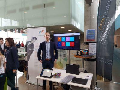 Datatjenesten var på plass under Karrieredagen på Høgskolen i Østfold